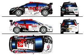 deco voiture de rallye concours déco c4 wrc de greiff