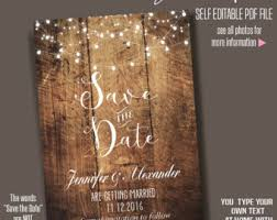 Save The Date Instant Download Printable Rustic Wedding
