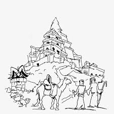 25 Coloring Page Outline Of Girl With Gifts At Christmas Tree