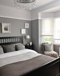 Two Tone Walls No Chair Rail by Different Tones Of Grey Give This Bedroom A Unique And Interesting