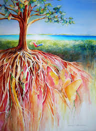 Root Tree Painting