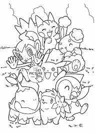Cute Pokemon Coloring Pages For Kids Characters Printables Free