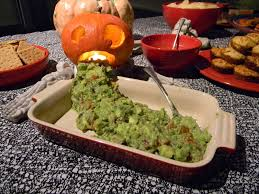 Vomiting Pumpkin Dip by With Our Powers Combined Halloween Food Roundup