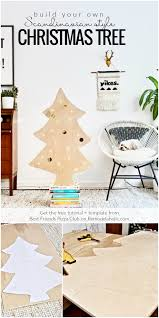 Rotating Christmas Tree Stand Hobby Lobby by Remodelaholic Easy Diy Plywood Christmas Tree With Lights