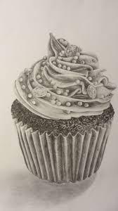 Drawn cake pencil sketch 5