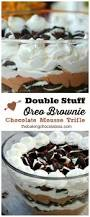 Nilla Pumpkin Mousse Trifle by Double Stuff Oreo Brownie Chocolate Mousse Trifle U2013 The Baking