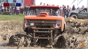 100 Mud Racing Trucks Powerful Trying To Go Through A Hole From Hell