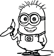 Minions Coloring Pages Games Despicable Me 2 To Print Color Minion Colouring Free Full Size