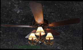 standard size fans rustic ceiling fan 52 3 light antler