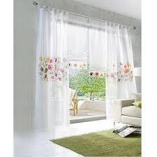 gardinen vorhänge weiss schlaufenschals deko gardinen