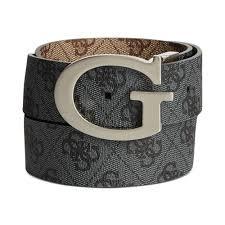 guess 35mm reversible logo buckle belt in black for men lyst
