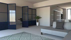 glaswand im blau eisen und glas wohnzimmer lebensraum und