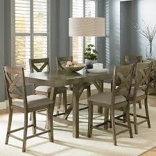 Counter Height 7 Piece Dining Room Table Set Standard Furniture Modern Of