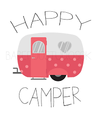 Happy Camper Vintage Poster Printable Wall Art By BarefootStudiosOk On Etsy