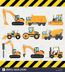 Different Types Of Construction Trucks Illustration Stock Vector Art ...