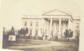 Photograph Of Lincoln In Front The White House
