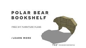 free diy furniture plans how to build a polar bear bookshelf