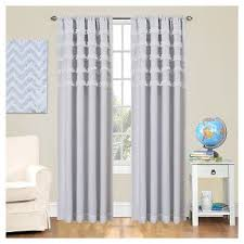 Purple Ruffle Blackout Curtains by White Ruffle Blackout Curtains Target