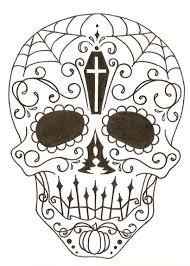 Sugar Skull Pumpkin Carving Patterns by Drawn Skull Halloween Pencil And In Color Drawn Skull Halloween