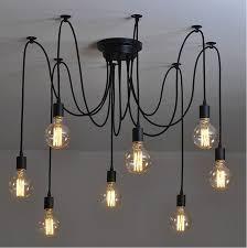 8 arm edison bulb pendant chandelier modern vintage loft bar