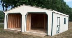 Wood Amish Built 2 Car Garage For Sale in Virginia and West Virginia