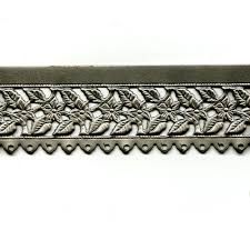 Decorative Metal Banding For Furniture by Floral Leaves Edging With Holes Steel Banding 12
