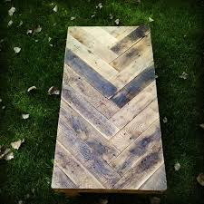 Excellent Brown Rectangle Modern Wooden Herringbone Coffee Table Stained Design Fascinating
