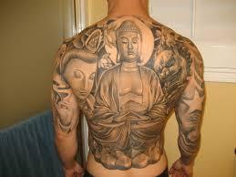 Asian Buddha Tattoos On Simple Awesome Full Back Tattoo