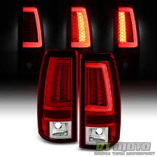 Neon Pyro Tube] 2003-2006 Chevy Silverado Red Clear LED Tail Lights ...