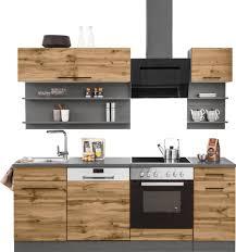 held möbel küchenzeile tulsa mit e geräten breite 210 cm schwarze metallgriffe hochwertige mdf fronten kaufen otto