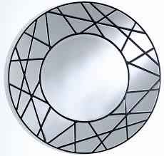 casa padrino designer spiegel schwarz ø 102 cm luxus wohnzimmer wandspiegel