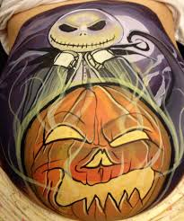 Halloween Faces For Pumpkins Painted by 6 Decorated Baby Bumps You Should See Pregnant Halloween