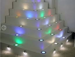 Recessed Led Floor Lighting Strips Decking Light Stair Seven Colors