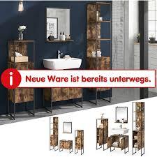 vicco loft badmöbel set fyrk vintage badspiegel badschränke waschtischunterschrank
