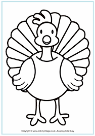 Turkey Colouring Page