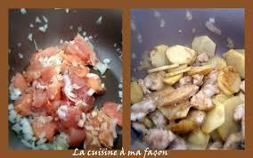 faire revenir en cuisine cassolette de poulet et pois chiches la cuisine à ma façon