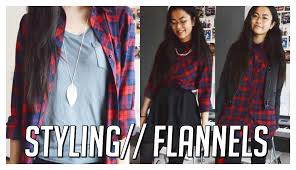 how i style flannels plaid shirts 4 casual fall ideas