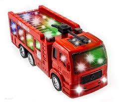 100 Truck Emergency Lights TECHEGE Toys Fire Team For Toddlers Kids With Siren