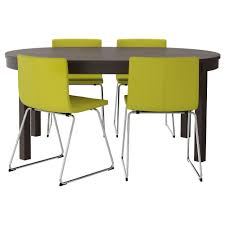 Ikea Vilmar Chair Assembly by Bjursta Bernhard Table And 4 Chairs Brown Black Kavat Green