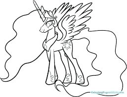 Princess Luna My Little Pony Coloring Page Pages