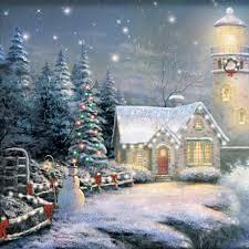 Thomas Kinkade Christmas Tree For Sale by Thomas Kinkade Light Your Way Home Christmas Lighthouse Canvas Print