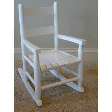 furniture hinkle chair company childs rocking chair in white