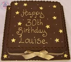 Chocolate Square Birthday Cake