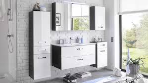 badezimmer set 5 tlg in grau weiß hochglanz mit led