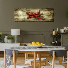 küche leinwand deko bilder wandbilder gewürze kräuter