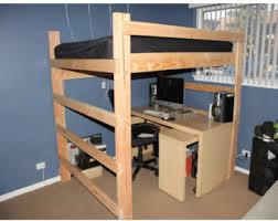 Loft Bed Queen Bed Frame With Storage Easy Queen Size Loft Bed