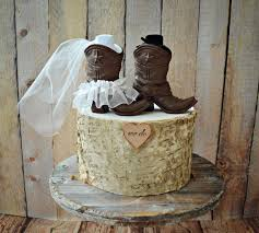 Cowboy Boots Wedding Cake Topper Texas Country Rustic
