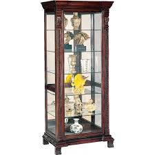 Walmart Corner Curio Cabinets by Wildon Home Asotin Lighted Curio Cabinet Walmart Com