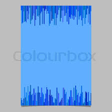 Blue Page Template From Vertical Stripes
