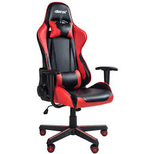 Merax Red High Back Gaming Chair With Lumbar Support And Headrest ... Office Essentials Respawn400 Racing Style Gaming Chair Big And Cg Ch80 Red Circlect Hero Blackred Noblechairs Arozzi Monza Staples Killabee Recling Redblack 9015 Vernazza Vernazzard Nitro Concepts S300 Ex In Casekingde Costway Executive High Back Akracing Arc Series Casino Kart Opseat Master